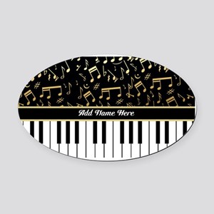 Personalized Piano musical notes designer Oval Car