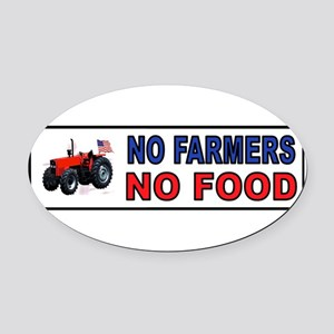 FARMER BUMPER STICKER Oval Car Magnet