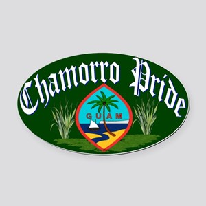 Chamorro Oval Car Magnet