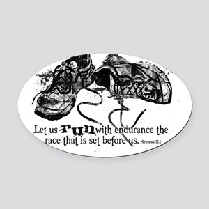 runningshoes Oval Car Magnet