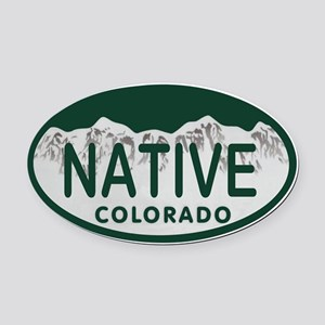 Native Colo License Plate Oval Car Magnet