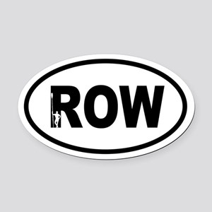 Row Oarsman Oval Car Magnet
