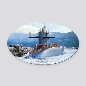 mp uss henry clay mini poster Oval Car Magnet