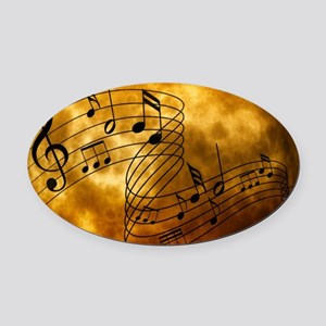 Music Oval Car Magnet