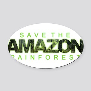 Save the Amazon Oval Car Magnet