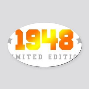 Limited Edition 1948 Birthday Oval Car Magnet