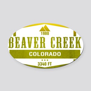 Beaver Creek Ski Resort Colorado Oval Car Magnet