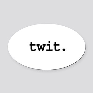 twit Oval Car Magnet