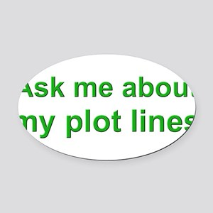 askplotlines_green_bs Oval Car Magnet