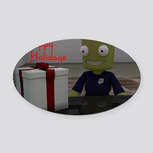 Kerbal Christmas Gift Oval Car Magnet