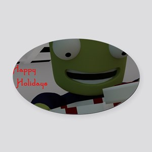 Kerbal Christmas Oval Car Magnet