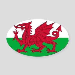 wales-flag-4000w Oval Car Magnet