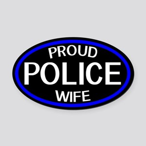 Police: Proud Wife (The Thin Blue Oval Car Magnet