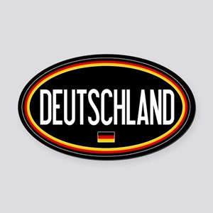 Germany: Deutschland Flag Oval (Bl Oval Car Magnet