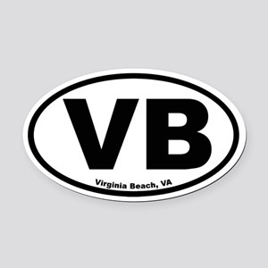 Virginia Beach Oval Car Magnet