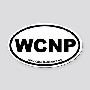 Wind Cave National Park Oval Car Magnet