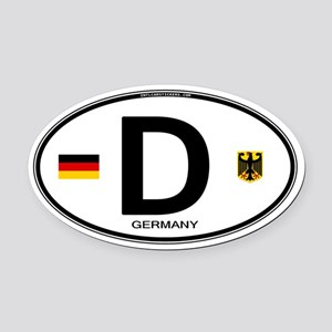 Germany Euro Oval Oval Car Magnet