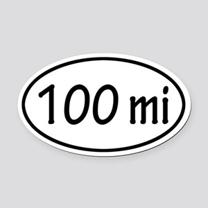 100 mi Oval Car Magnet
