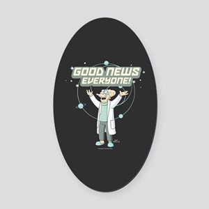 Futurama Good News Oval Car Magnet