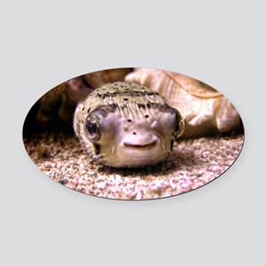 Helaine's Blowfish (Pufferfish ) Oval Car Magnet