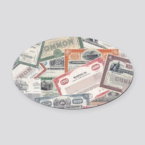 stock certificate collection Oval Car Magnet