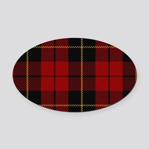 Wallace Tartan Shoulder Bag Oval Car Magnet