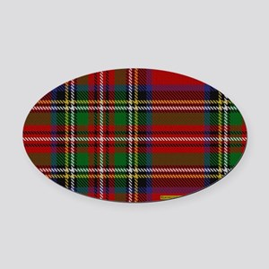 Stewart Tartan Plaid Oval Car Magnet