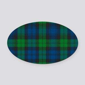 Black Watch Tartan Plaid Oval Car Magnet