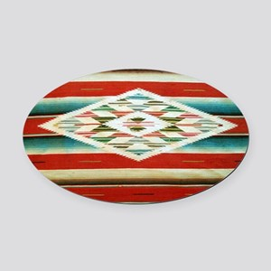 Old Mexican Serape Shoulder Bag Oval Car Magnet