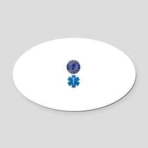 Deaf Med Combo Oval Car Magnet