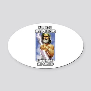 Zeus Oval Car Magnet