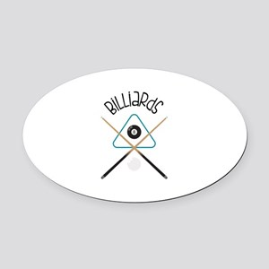 Billiards Oval Car Magnet