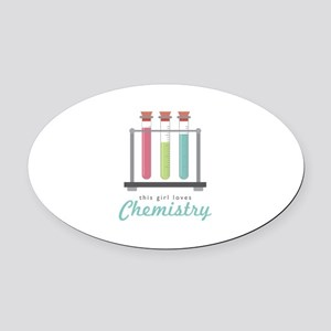 Love Chemistry Oval Car Magnet
