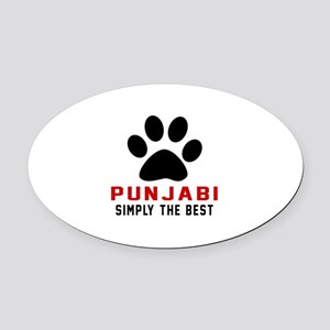 Punjabi Simply The Best Cat Design Oval Car Magnet