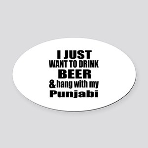Hang With My Punjabi Oval Car Magnet