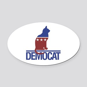 democat Oval Car Magnet