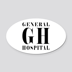 General Hospital Black Oval Car Magnet