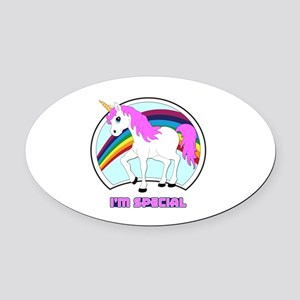 I'm Special Funny Unicorn Oval Car Magnet