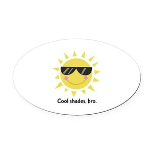 203ffb470ac1 Smiley Face With Glasses Car Magnets - CafePress