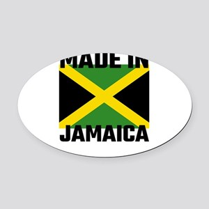 Made In Jamaica Oval Car Magnet