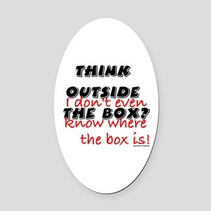 Outside the Box Oval Car Magnet