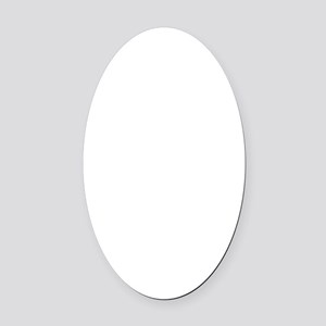 Fragile Leg Lamp Oval Car Magnet