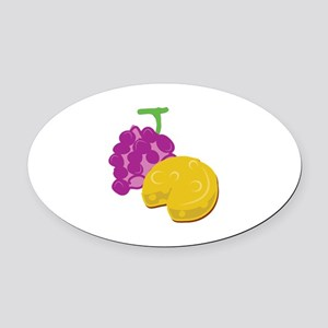 Grape Cheese Oval Car Magnet