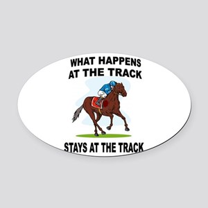 HORSE RACING Oval Car Magnet