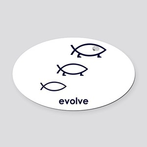 Evolve Oval Car Magnet