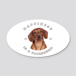 6-happiness Oval Car Magnet