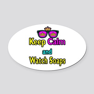 Crown Sunglasses Keep Calm And Watch Soaps Oval Ca