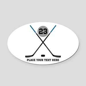 Ice Hockey Personalized Oval Car Magnet