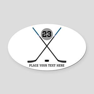 Hockey Stick Car Magnets - CafePress