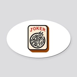 Joker Oval Car Magnet